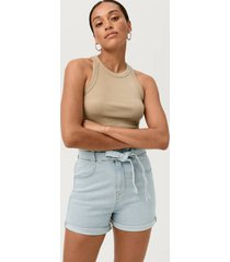 jeansshorts paperbag denim shorts