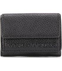 marc jacobs carteira com logo gravado - preto