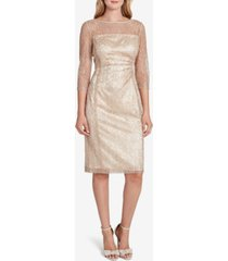 tahari asl allover-lace sheath dress