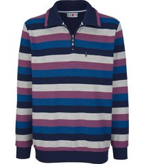 sweatshirt roger kent marine::royal blue::zilvergrijs