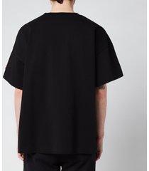 kenzo men's seasonal logo boxy t-shirt - black - l