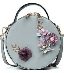 borsa a mano a tracolla tonda casual floreale a fiori
