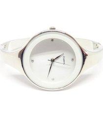 reloj mujer analogico cuarzo acero inox. 9001 blanco