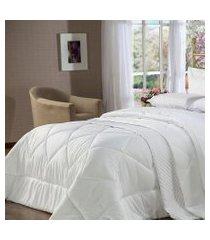cobre leito solteiro plumasul soft touch 180x220cm microfibra branco