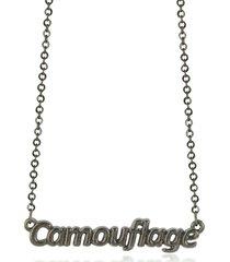 patrizia pepe khaki camouflage necklace