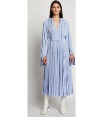 proenza schouler crepe jersey pleated dress periwinkle/blue xxl