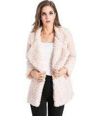 abrigo peludo rosa nicopoly