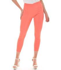 pantalon para mujer en bengalina naranja color-naranja-talla-xxs