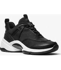 mk sneaker sparks in nylon e pelle stampa serpente - nero (nero) - michael kors
