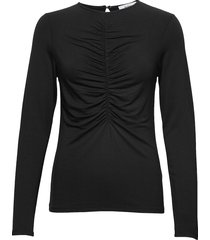 cathy top t-shirts & tops long-sleeved zwart stylein