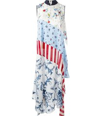 antonio marras patchwork maxi dress - blue
