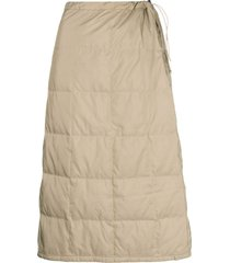 issey miyake pre-owned 1990's square quilted skirt - neutrals