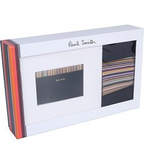 paul smith designer men's bags, card holder w/ 3 pairs of socks gift box