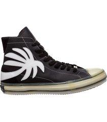 scarpe sneakers alte uomo in pelle vulcanized