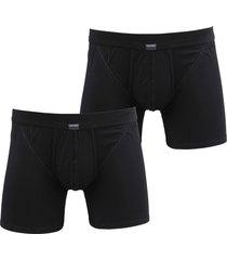 schiesser ondergoed boxer zwart 2pack 103399/000