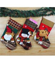 calza natalizia tradizionale calze candy boxes santa snowman elk tree decoration