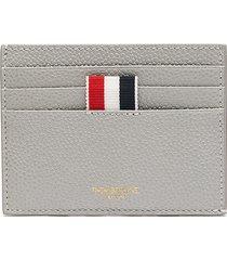 four bar stripe leather card case