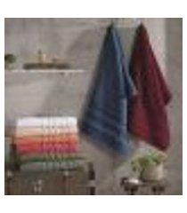 toalha de rosto prime bellagio 50cm x 80cm cinza titânio - lufamar