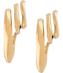 alexander mcqueen triple ear cuff earrings - gold