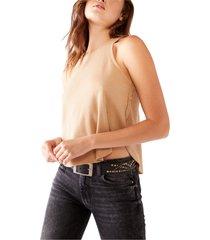 women's free people cool it thermal knit tank, size x-large - beige