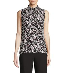 kobi halperin women's maggie floral silk blouse - black multi - size xl