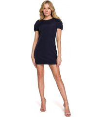 korte jurk makover k096 mini jurkje met overslag topje - model 1
