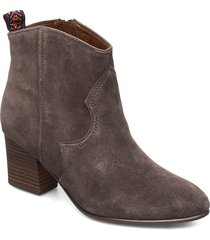 boots shoes boots ankle boots ankle boot - heel grå tamaris