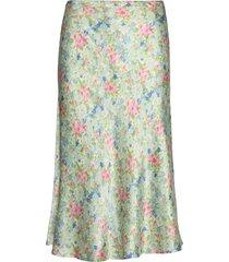 odeon silk skirt p knälång kjol multi/mönstrad notes du nord