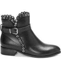 amaro feminino bota cano curto fivela aplicação, preto