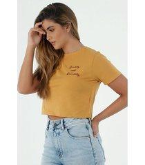 tshirt para mujer topmark, fondo entero bordado quality not quantity