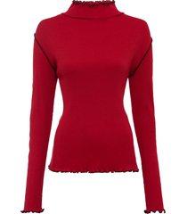 maglia a manica lunga con cuciture a contrasto (rosso) - rainbow
