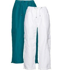 pantaloni cropped (pacco da 2) (blu) - bpc bonprix collection