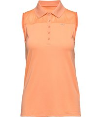 miko sleeveless poloshirt t-shirts & tops polos orange röhnisch