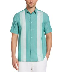 cubavera men's yarn-dyed panel shirt