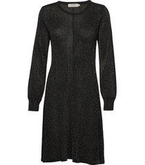aurélielcr knit dress stickad klänning svart cream