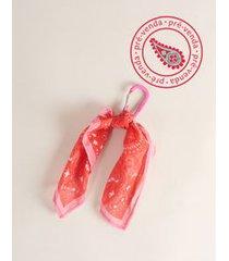 [pré-venda] chaveiro lenço paisley - vermelho u