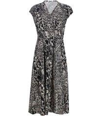 vestido largo print color negro, talla 6