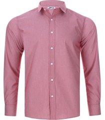 camisa lineas verticales color rojo, talla xs