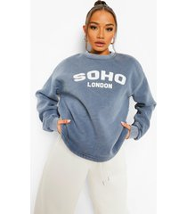 korte gebleekte soho sweater, denim