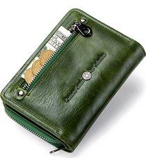 portafoglio piccolo porta carte di credito vintage in vera pelle per uomo donna