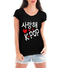 blusa criativa urbana love kpop coreano t shirt