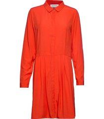 dhmolly dress jurk knielengte rood denim hunter