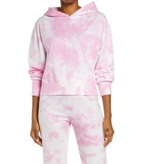 women's eleven by venus williams sunset walk tie dye hoodie, size medium - pink
