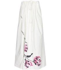 marni floral print cotton skirt