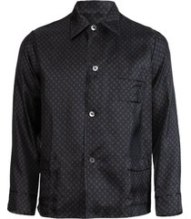 medallion print pajama shirt