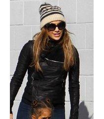 handmade jennifer lopez black leather jacket, new fashion leather jacket womens