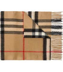 burberry vintage check cashmere scarf - brown