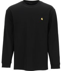 carhartt chase l/s t-shirt with logo embroidery