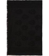 alexander mcqueen skull print wool scarf