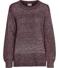 tröja vicleared knit metallic top